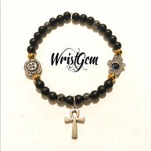 """WristGem """"Ankh"""" Meditation Bracelet."""